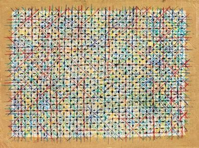 Appearance of Crosses 95-B64, 1995 - Ding Yi