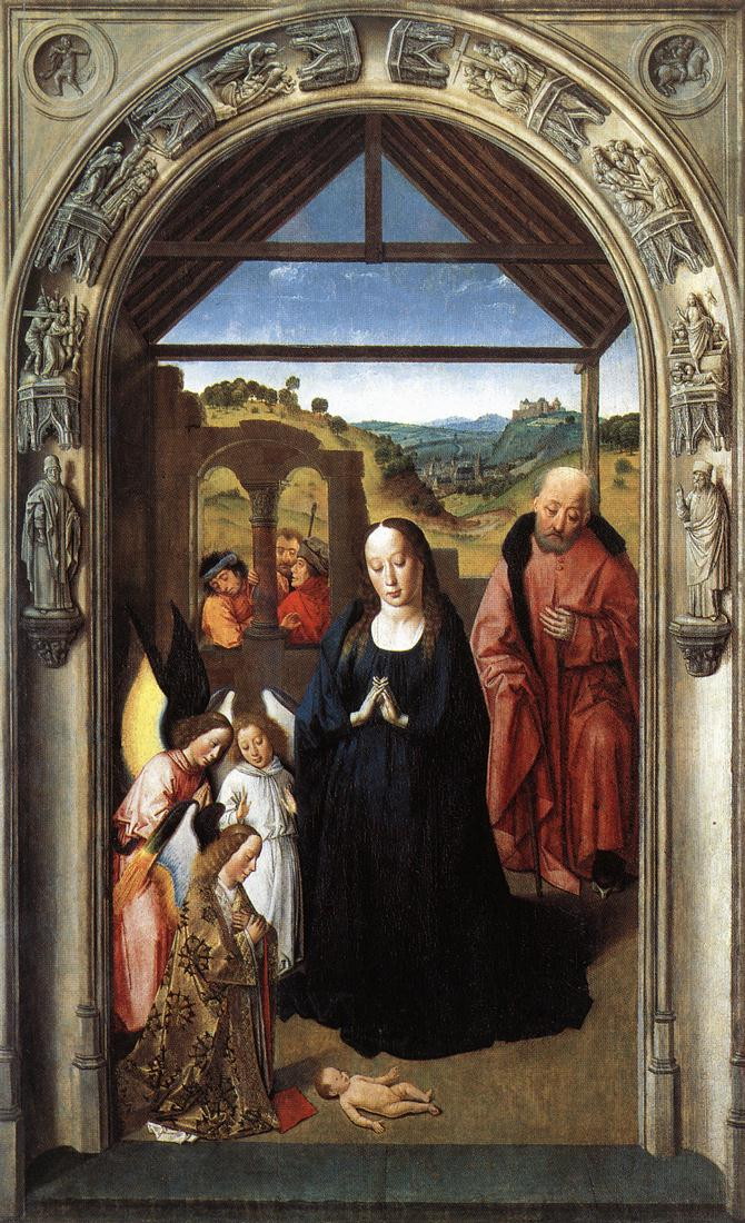 Nativity (Polyptych of the Virgin, the wing), 1445