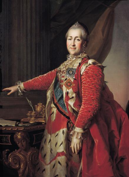 Portrait of Catherine II - Dmitry Levitzky