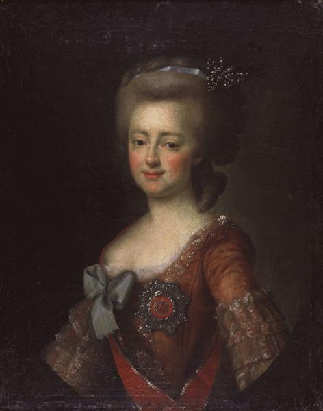 Portrait of Grand Duchess Maria Feodorovna, c.1785 - Dmitry Levitzky