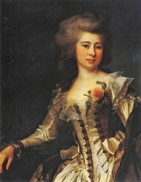 Portrait of Unknown Woman with a rose, 1788 - Dmitry Levitzky