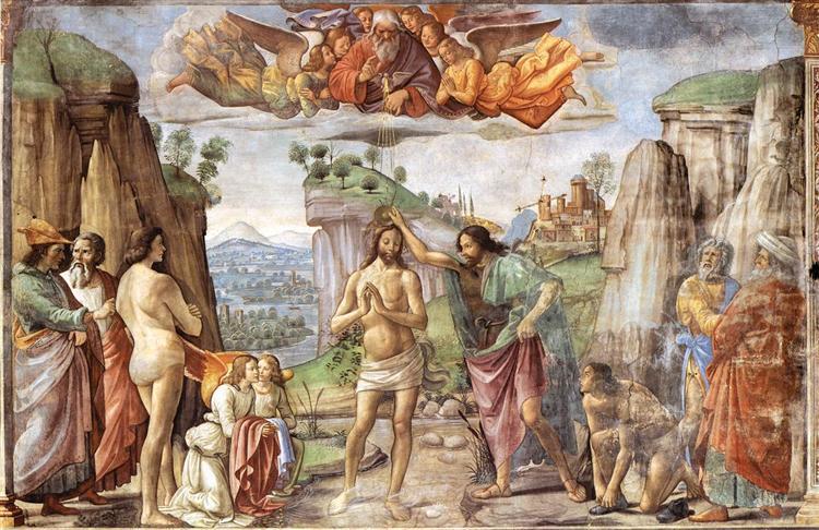 Baptism of Christ, c.1486 - c.1490 - Domenico Ghirlandaio