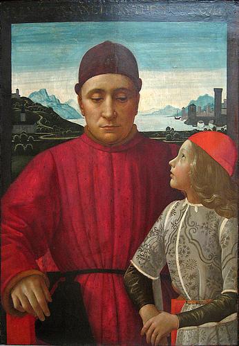 Francesco Sassetti and His Son Teodoro, c.1487 - Domenico Ghirlandaio