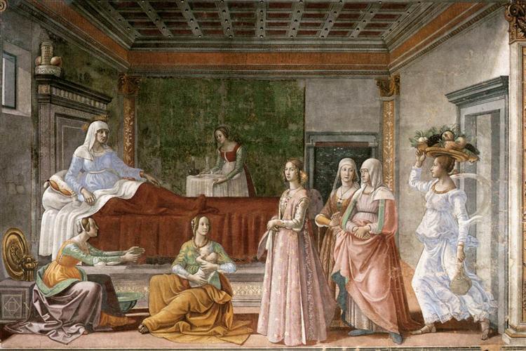 The Birth of St. John the Baptist, 1486 - 1490 - Domenico Ghirlandaio
