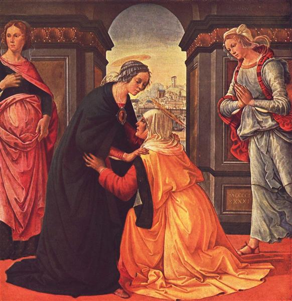 The Visitation, 1491 - Domenico Ghirlandaio
