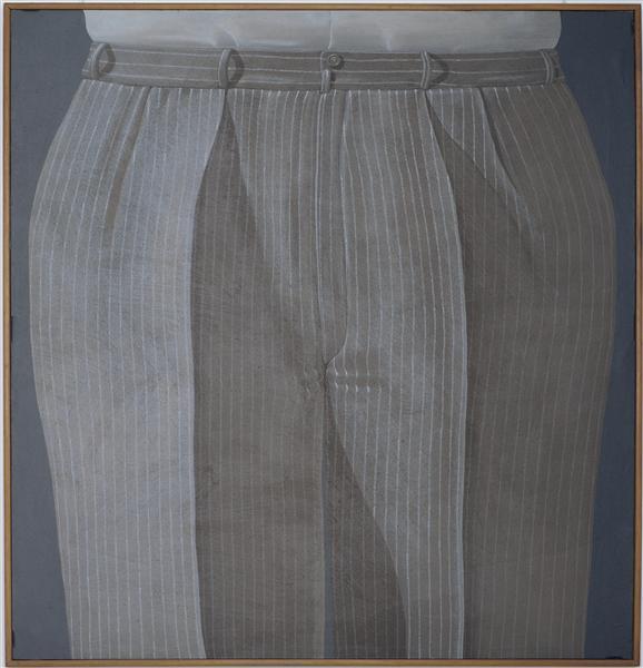 Striped Trousers - Domenico Gnoli