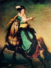 Retrato equestre de Carlota Joaquina of Spain - Domingos de Sequeira