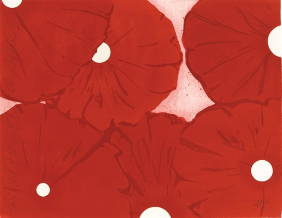 Six Red Flowers, October 28, 1999, 1999 - Donald Sultan