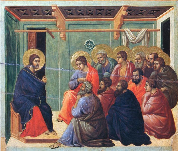 Christ preaches the Apostles, 1308 - 1311 - Duccio