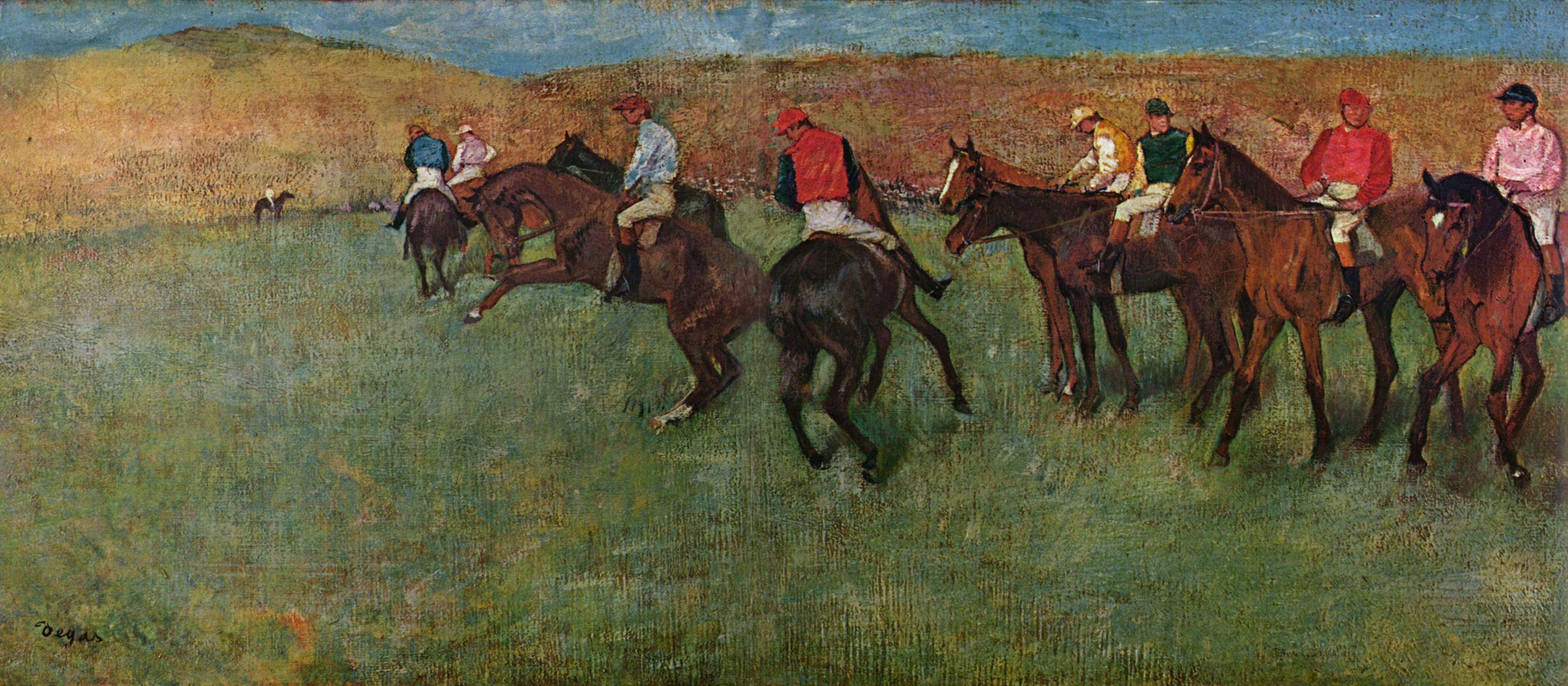 At the Races  Before the Start  Edgar Degas  WikiArt.org