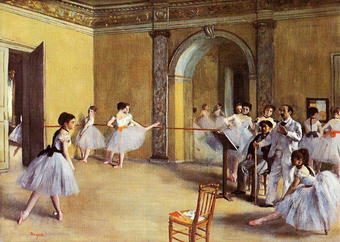 Foyer Des Art : Dance class at the opera edgar degas wikiart