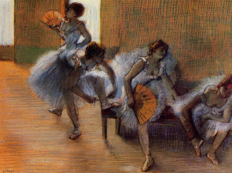 In the Dance Studio - Edgar Degas