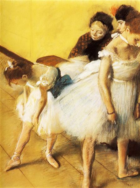 The Dancing Examination, 1880 - Edgar Degas