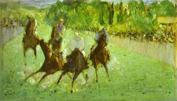 At the races, 1875 - Édouard Manet