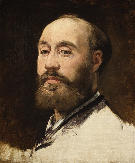 Head of Jean-Baptiste Faure, c.1883 - Эдуард Мане