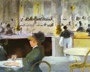 Interior of a Café - Edouard Manet