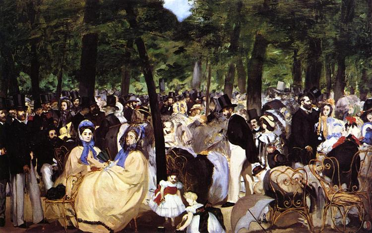 Music in the Tuileries Garden, 1862 - Едуар Мане