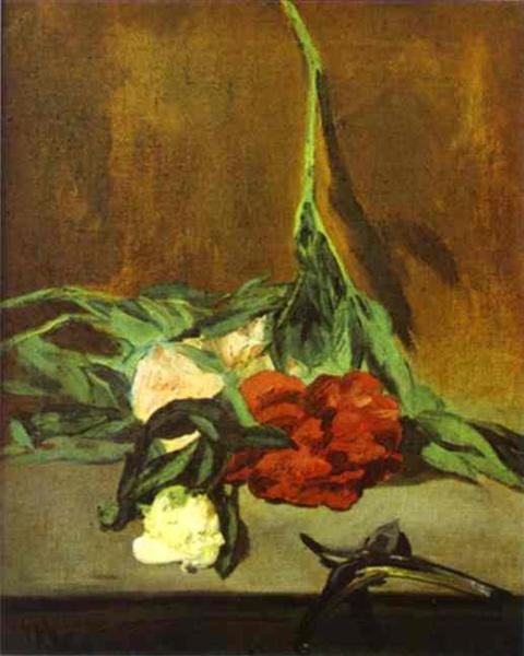 Peony stem and shears, 1864 - Edouard Manet
