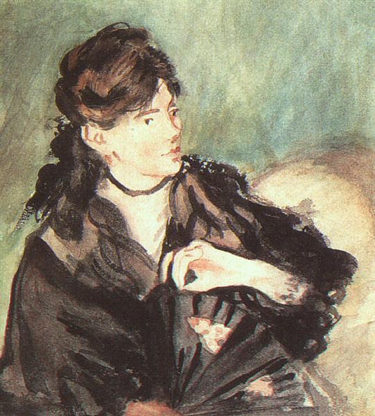 Portrait of Berthe Morisot - Edouard Manet