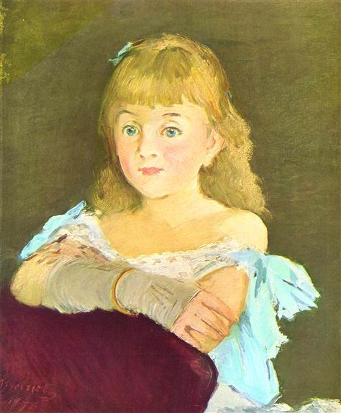 Portrait of Lina Campineanu, 1878 - Edouard Manet