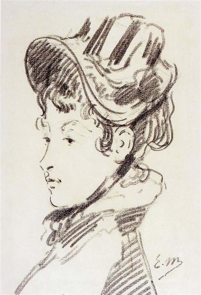 Portrait of madame Julles Guillemet, c.1878 - Edouard Manet