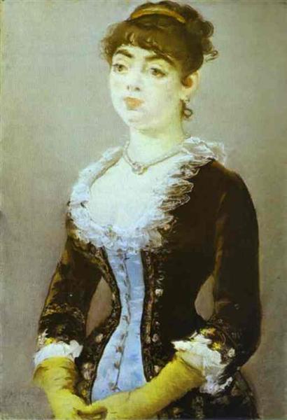 Portrait of madame Michel-Levy, 1882 - Edouard Manet