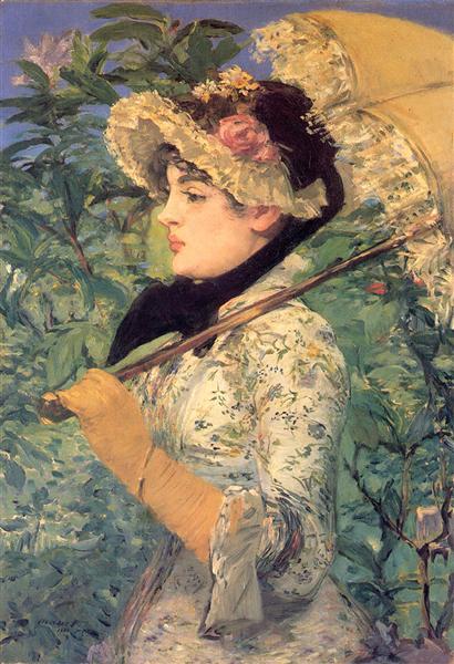 Spring (Study of Jeanne Demarsy), 1882 - Edouard Manet