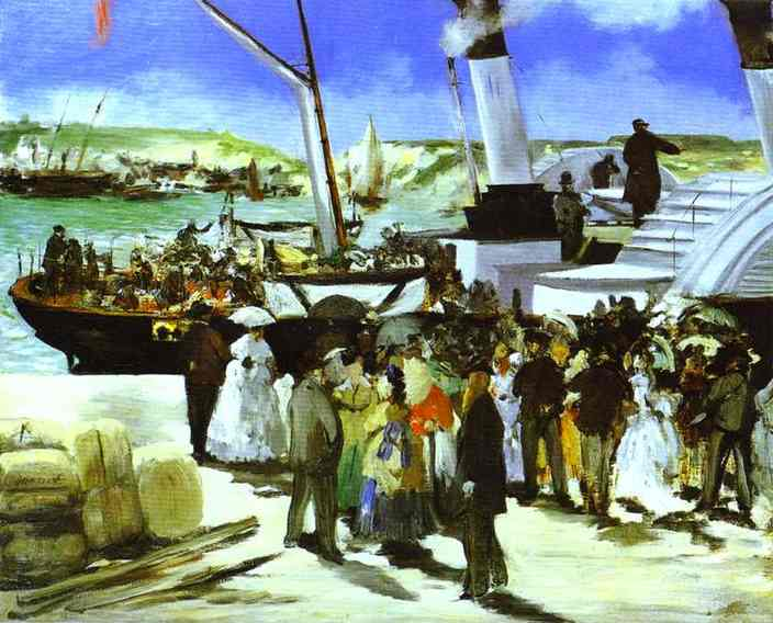 The Departure Of The Folkestone Boat, c.1869 - Едуар Мане