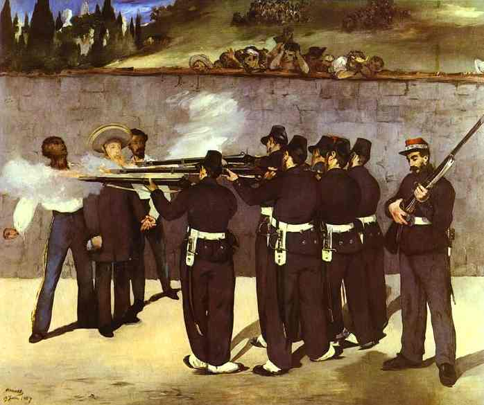 The Execution of the Emperor Maximilian of Mexico, 1868 - Edouard Manet