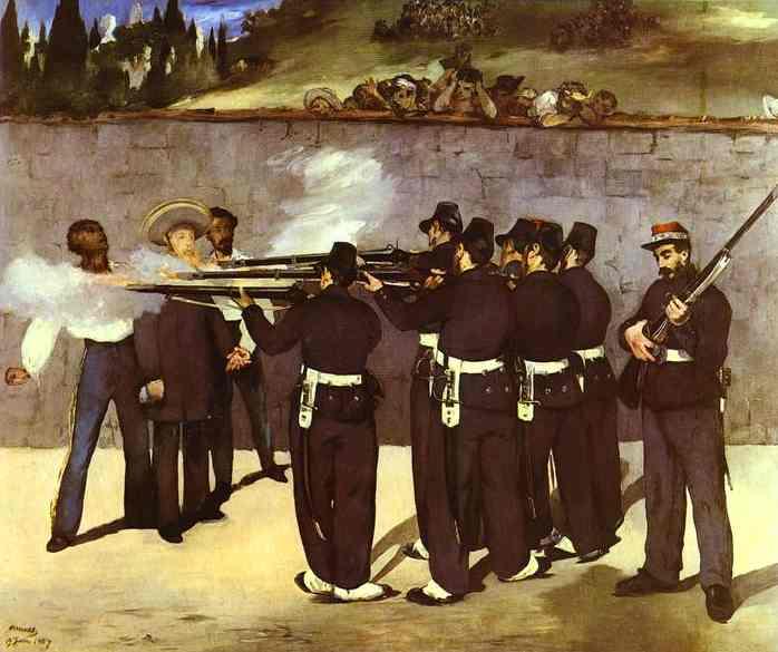 Edouard Manet: Poprava císaře Maxmiliána Mexického