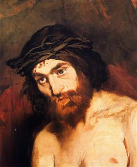 The head of Christ - Edouard Manet