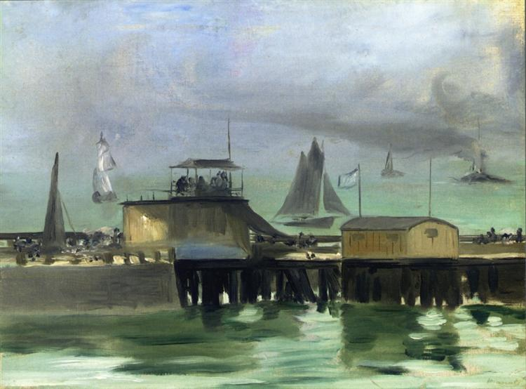 The Jetty at Boulogne, 1869 - Edouard Manet