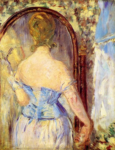 Woman Before a Mirror, 1877 - Edouard Manet