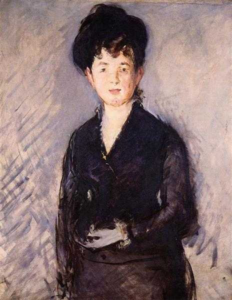Woman with a gold pin, 1879 - Edouard Manet