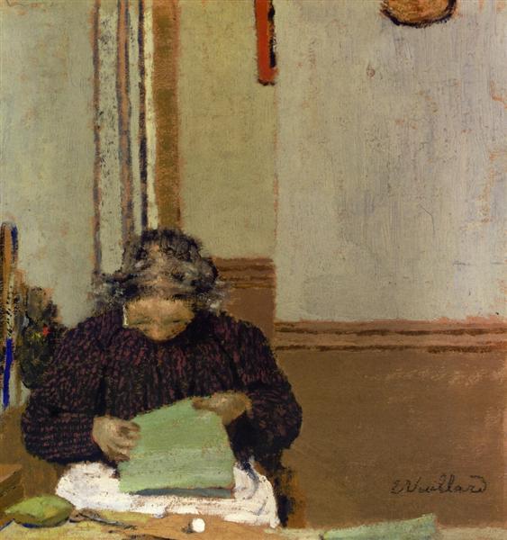 Madame Vuillard Cousant, 1895 - Edouard Vuillard