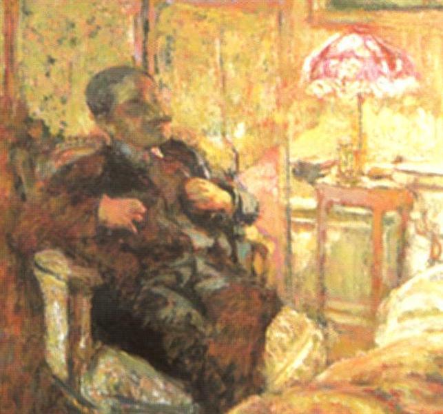 Romain Coolus (writer in La Revuew Blanche), 1930 - Edouard Vuillard