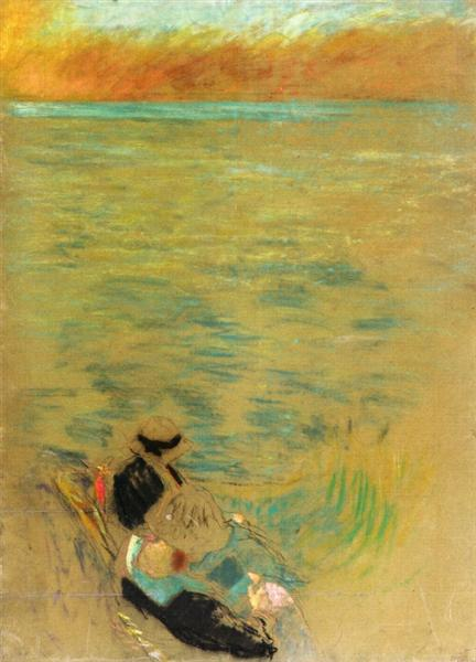 Sea at Sunset, Women on the Shore, 1914 - Edouard Vuillard