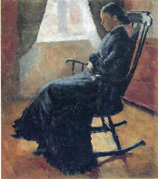 Aunt Karen in the Rocking Chair, 1883 - Edvard Munch