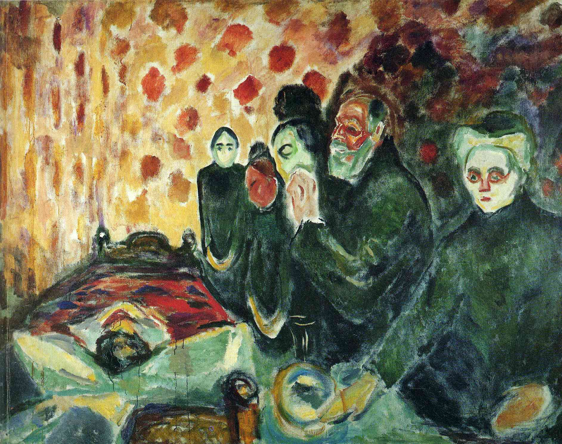 By the Deathbed (Fever) I, 1915 - Edvard Munch - WikiArt.org