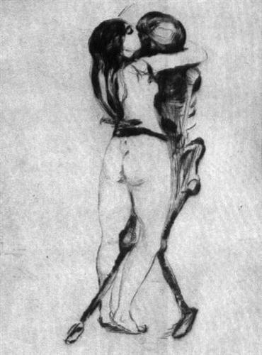 Girl and Death - Edvard Munch