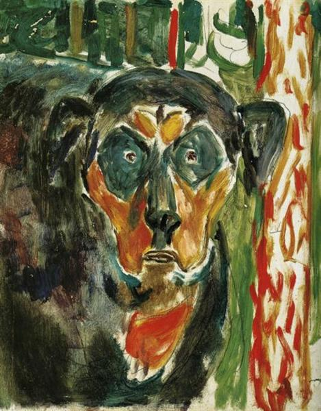 Head of a Dog, 1930 - Edvard Munch
