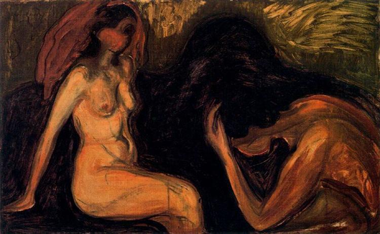 Man and Woman, 1898 - Edvard Munch