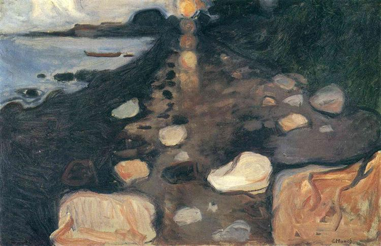 Moonlight on the Shore, 1892 - Edvard Munch