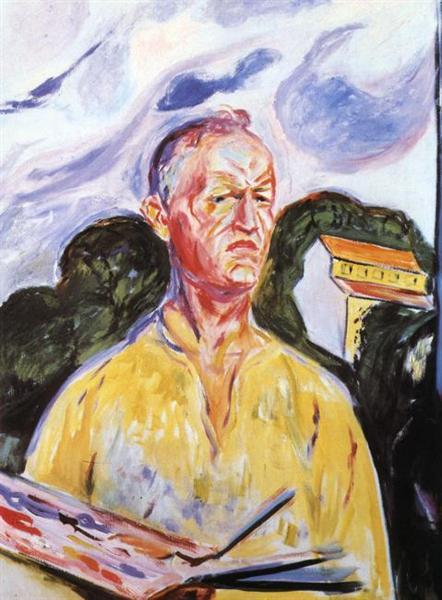 Self-Portrait at Ekely, 1926 - Edvard Munch