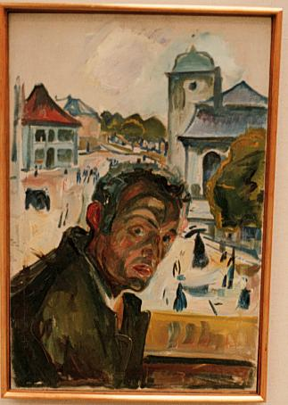 Self-Portrait in Bergen, 1916 - Edvard Munch