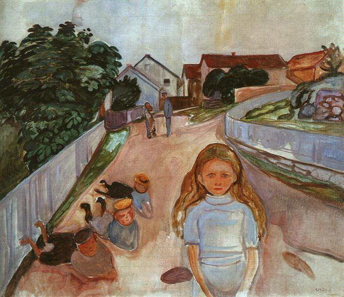 Street in Asgardstrand, 1902 - Edvard Munch