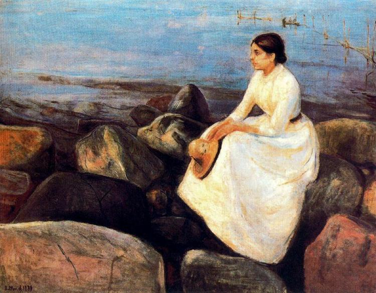 Summer Night (Inger on the Shore), 1889 - Edvard Munch