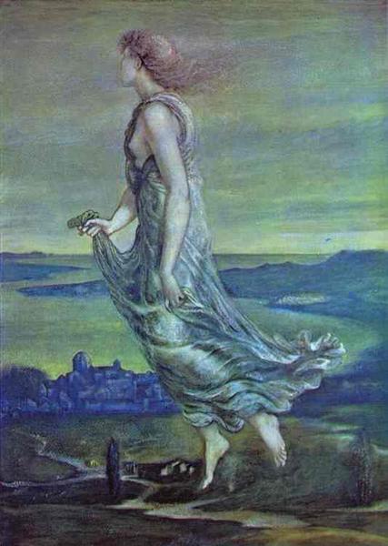 Hesperus. The Evening Star, 1870 - Edward Burne-Jones