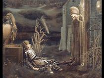 The Dream of Launcelot at the Chapel of the San Graal - Edward Burne-Jones