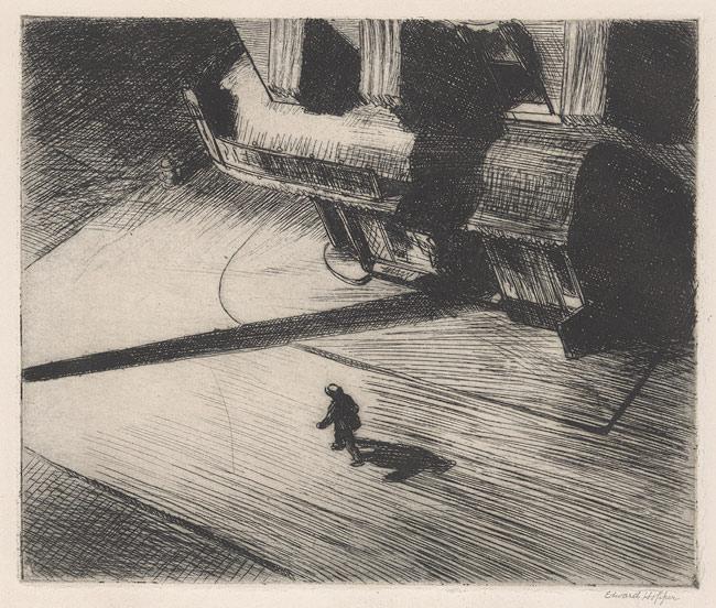 Night Shadows, 1921 - Edward Hopper